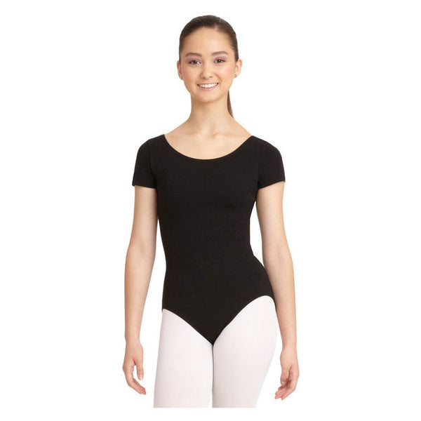 Mondor Adult Black Short-Sleeved Leotard