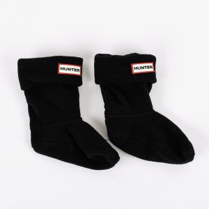 Hunter Kids Black Fleece Boot Sock