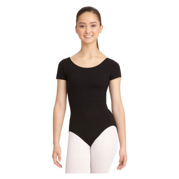 Mondor Black Short-Sleeved Leotard