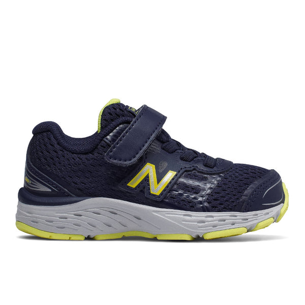 New Balance Toddler Pigment/Limeade 680v5 A/C Sneaker