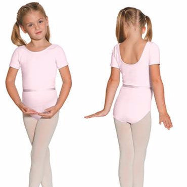 Leotard Cap/Short-sleeve in true pink