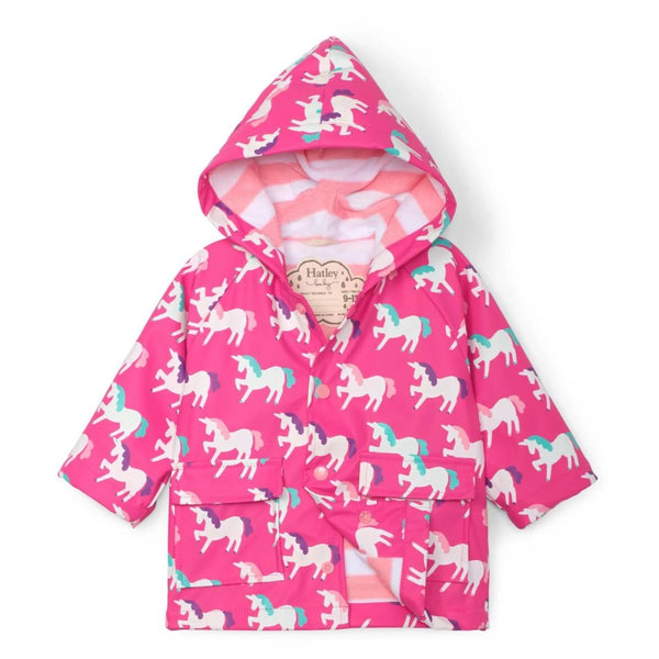 Hatley Mystical Unicorns Colour Changing Baby Raincoat