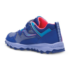 Saucony Blue/Purple/Coral Peregrine Shield A/C Little Kid Sneaker