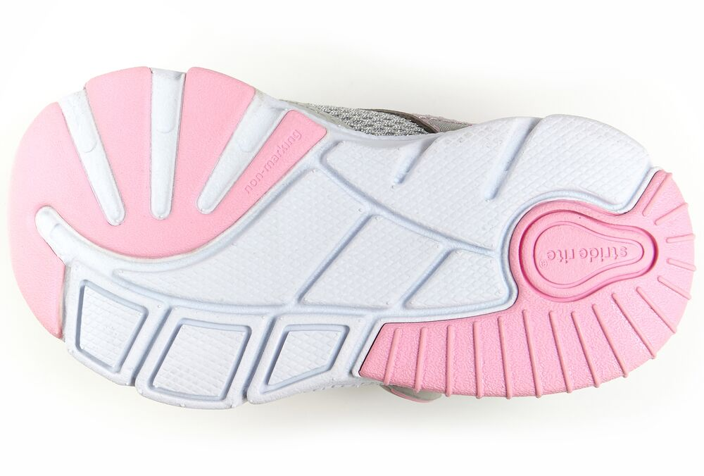 Stride Rite Silver made2play Indy Baby/Toddler Sneaker