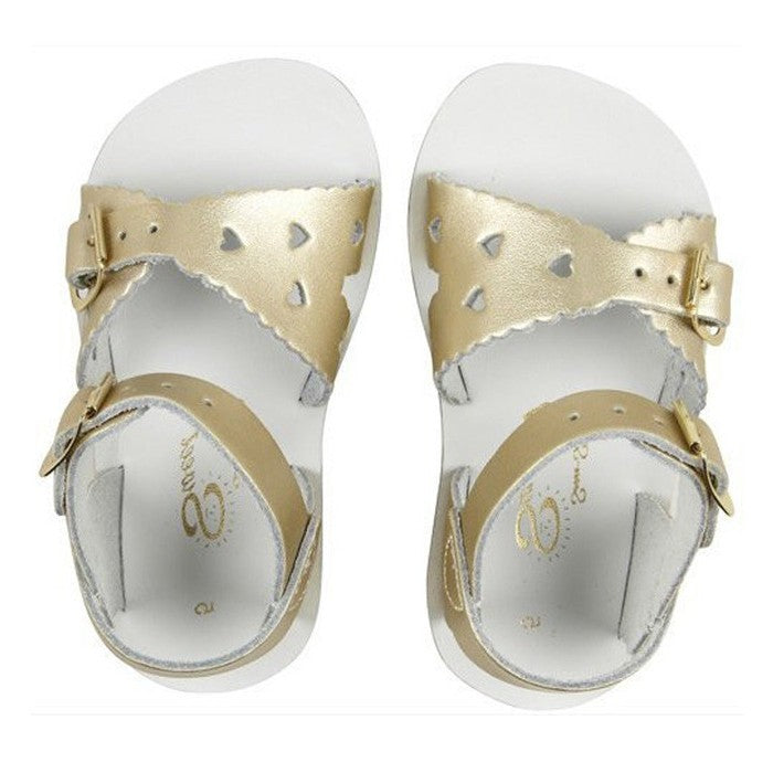 Salt Water Sandals Gold Sweetheart Toddler Sandals