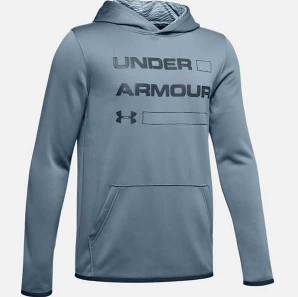 Under Armour Ash Grey/Wire Fleece Wordmark Hoody