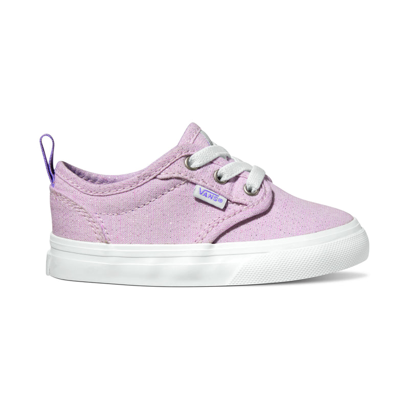 VANS Pink Glitter Toddler Atwood Slip-On Sneaker