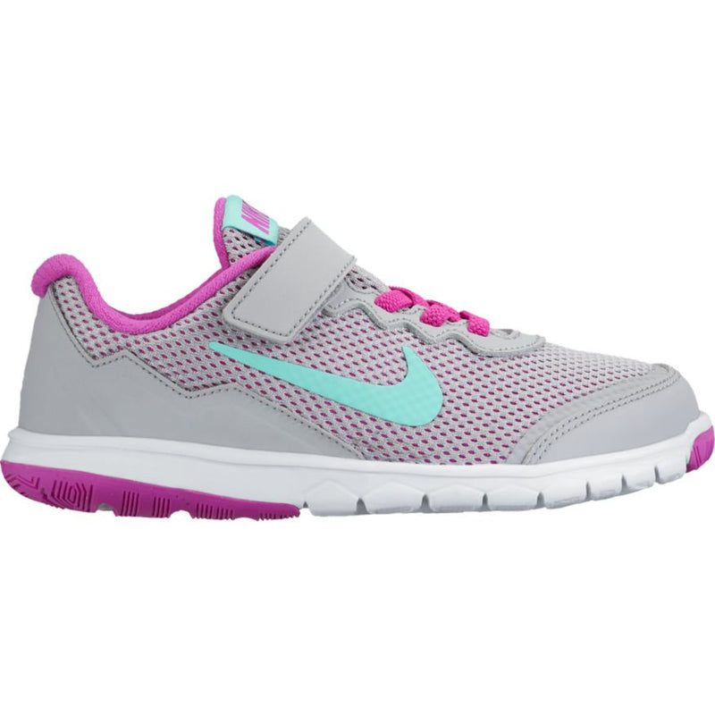 Nike Wolf Grey/Hyper Turquoise/Violet Flex Experience A/C Children's Sneaker
