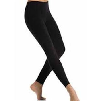 Mondor Black Performance Footless Tights