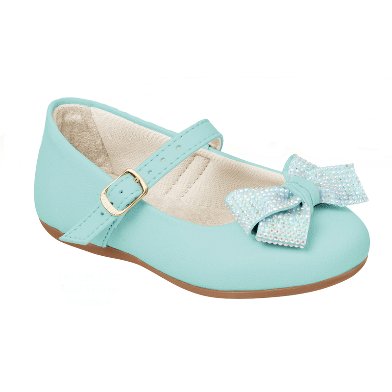 Pampili Tiffany Blue Bailarina Toddler/Children's Mary Jane