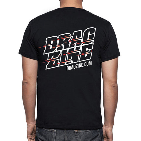 Dragzine Stacked Drag Racing Tee, Black, M-5XL