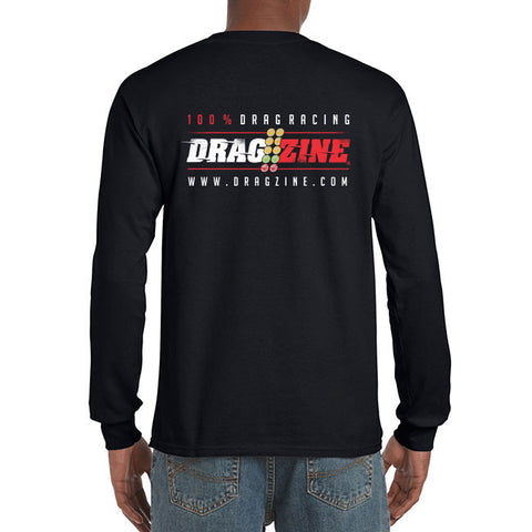 Dragzine.com 100% Long Sleeve Drag Racing Tee, Black