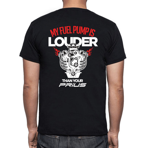 "Men's ""Louder than Your Prius"" Black tee (SM-5X)"
