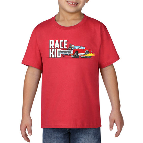 Race Kid - Red racecar kids Tee