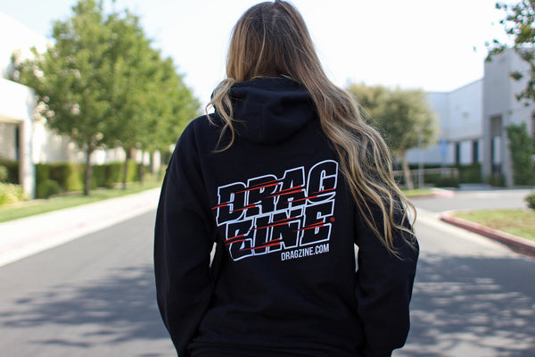 "Dragzine 100% Drag Racing ""Stacked"" Logo Hoodie"