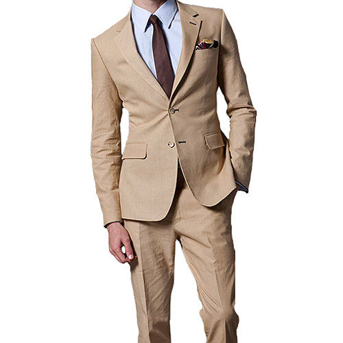 wide selection of designs largest selection of running shoes Khaki Linen Suit