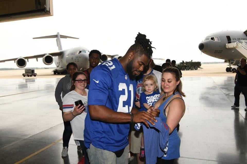 GIANTS CELEBRATE NFL DRAFT AT JOINT BASE McGUIRE-DIX-LAKEHURST | Landon Collins