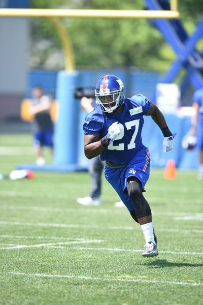 Landon collins running at giants rookie mini camp