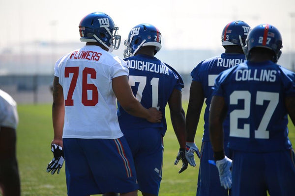 Landon Collins and teammates at rookie mini camp