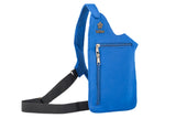 Blue washable neoprene purse