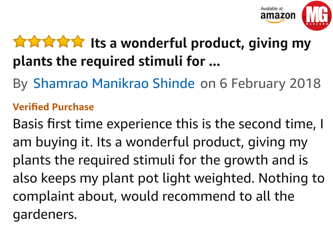 mahagro potting mix review on amazon