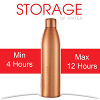 Dr. Copper World's First Seam Less Copper Water Bottle, Copper Bottles for Water 1 Liter,100% Pure Copper Water Bottles 1 Litre Best, Leak Proof Copper Bottles 1 Litre 1000ml
