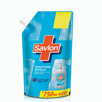 Savlon Moisture Shield Germ Protection Liquid Handwash Refill Pouch, 750ml- Pack of 2