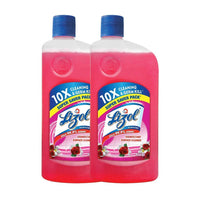 Lizol Disinfectant Surface & Floor Cleaner Liquid, Floral - 975 ml (Pack of 2)