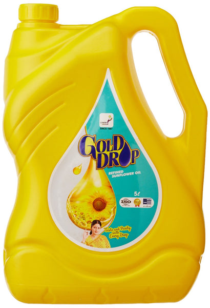 Gold Drop Sunflower Oil Jar, 5L