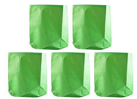 "Grow bags- <b>09"" x 12""</b> - Premium Quality HDPE- Pack of 5"