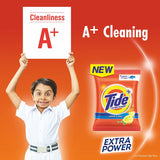 Tide Plus Detergent Washing Powder with Extra Power Lemon and Mint Pack - 1 kg