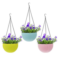 Flower Pot Hanging Basket with Hook Chain for Home Gardener Office Balcony Grower Planter