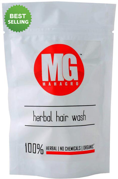 MahaGro Herbal Organic Hair Wash- 400g (200g Pack of 2)