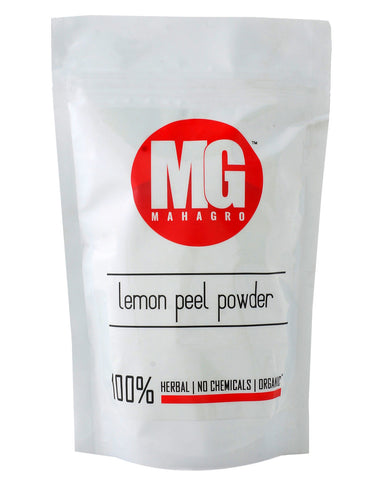 Lemon Peel Powder- Herbal, Organic & No Chemicals- MahaGro- 200g - MahaGro™