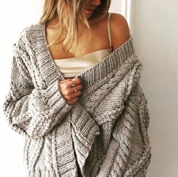 CHUNKY CABLE CARDI