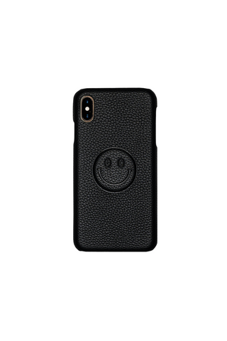 BE HAPPY PHONE CASE - BLACK