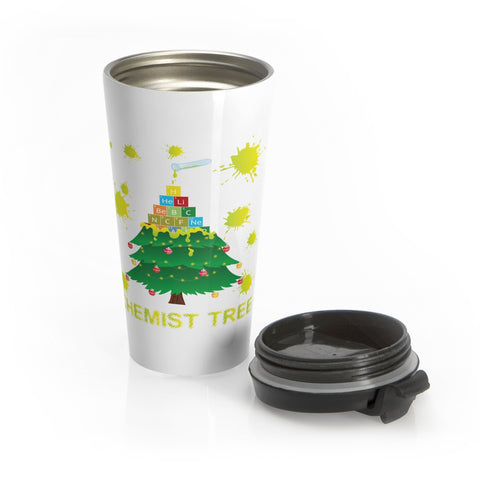 Chemist Tree Funny Periodic Table Of Elements Christmas Holiday Travel Mug