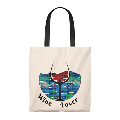 I Love Wine T-Shirt Tote Bag - Vintage