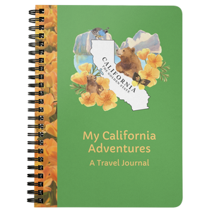 My California Adventures Travel Journal- A 75-page lined travel diary to record your travels and thoughts
