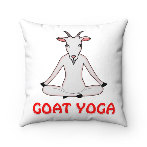 Goat Yoga Indian Sit Position Funny Pillow