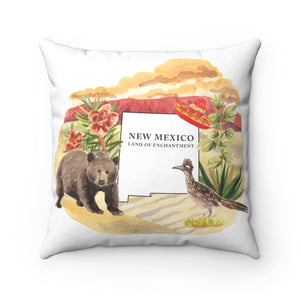 New Mexico The Land Of Enchantment Souvenir Pillow