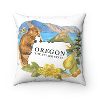 Oregon The Beaver State Souvenir Pillow