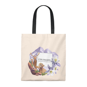 "Copy of Colorado ""The Rocky Mountain State"" Vintage Souvenir Tote Bag"