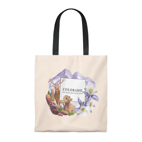 "State of Colorado ""The Rocky Mountain State"" Vintage Souvenir Tote Bag"