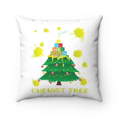 Chemist Tree Funny Periodic Table Of Elements Christmas Holiday Pillow