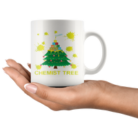 Chemist Tree Funny Periodic Table of Elements Christmas Holiday Gift Mug, Teacher Gift