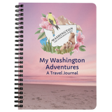 My Washington Adventures Travel Journal- A 75-page lined travel diary to record your travels and thoughts
