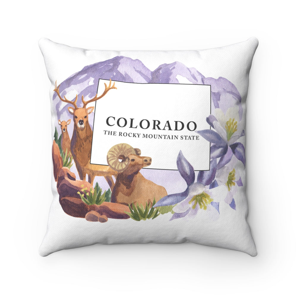 Colorado The Rocky Mountain State Souvenir Pillow