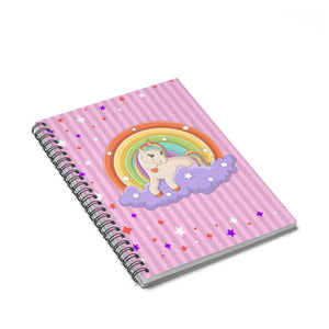 Unicorn and Rainbows Spiral Notebook - Ruled Line