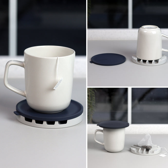 Multi-purpose silicone lid & coaster for drink cup
